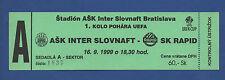 Orig.Ticket   UEFA Cup  99/00  INTER SLOVNAFT BRATISLAVA - RAPID WIEN  !  SELTEN