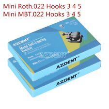 Orthodontic Dental Metal Self Ligating Brackets Braces Roth Mbt022 Hook 345