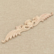 Wood Carved Long Onlay Applique Flower Frame Wall Door Decal Working Supplies