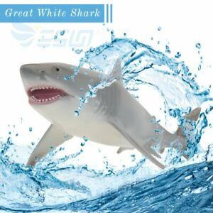 White Shark Animal Ocean Children Model Kids Xmas Toy Collector Decoration Gift