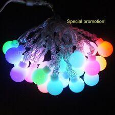 5M Globe LED String Lights G40 Wedding Party Fairy, 16.4FT Multi-color