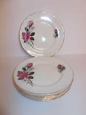 6 X Vintage James Kent Old Foley Ltd Chine côté Cake plaques PINK ROSE DESIGN