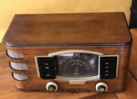 Sweet 1942 Zenith 6S-632 Black Dial Table Radio ~ Works Great!