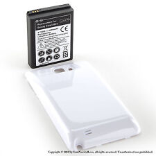 5000mAh Extended Battery for Galaxy Note GT-N7000 White Cover