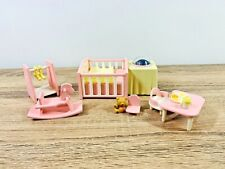 Sylvanian Families Baby Nightlight Nursery Set Pink (Light not Functional)