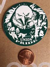 Bald Eagle Organized Labor Union Pride Hard Hat Sticker Decal