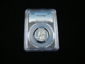 1962 Washington Silver Quarter PCGS Graded PR67 #41945312