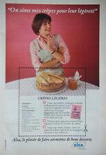 PUBLICITÉ DE PRESSE 1979 - ALSA RECETTE CRÊPES LÉGÈRES - ADVERTISING