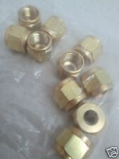 "Gyrolok 1/4"" Brass Nuts, Male, QTY OF 50"