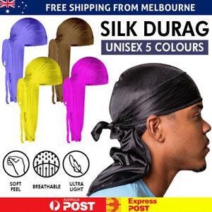 Unisex Bandana Doo Durag Headwear Soft Silk Pirate Cap Wrap Fashion Men Women