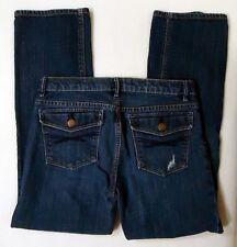 Gap Girls 12 Plus Jeans Straight Leg Distressed Adjustable Waist