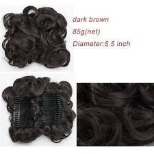 Combs Clip In Hair Extensions Chignon Hairpieces Claw on Curly Buns Updos ssi7