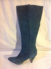 H&M Green Knee High Suede Boots Size 38