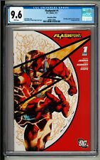 Flashpoint #1 CGC 9.6 White Pages! SDCC edition! Flash Wraparound Cover!!