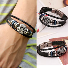 Hot Cool Men PU Leather Infinity Charm Wrap Women Bracelet Fashion Jewelry Gift