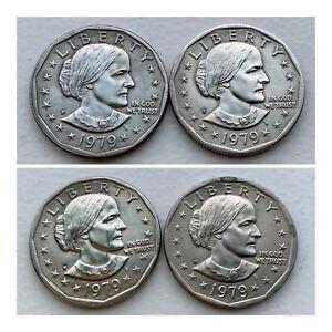1979-P Susan B. Anthony Philadelphia Mint Dollar x4