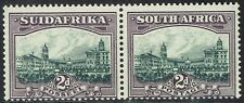 SOUTH AFRICA 1930 UNION BUILDINGS 2D GREY & LILAC MNH ** PAIR ROTO PRINTING