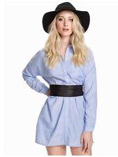 NEW Womens Minimum Leika Size 6 (EU 34) Light Blue Oversized Shirt Blouse