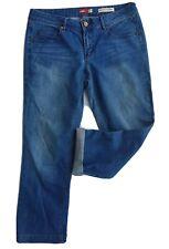 JAG Mid Blue Wash Poly Cotton Denim Jeans Boyfriend, Straight Leg Size 13 EUC