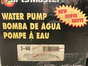 Fits Ford Taurus Mercury Sable WATER PUMP 3.0L 86-94 3-646 NEW PartsMaster