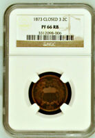 1873 NGC PR66 RB ☗ 600 Minted ☗ $25,000 67RB CU ♛ Red Brown PROOF Two Cents 2c