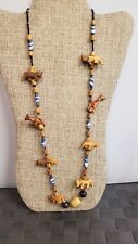 BOHO CARVED African Animal Beaded Necklace