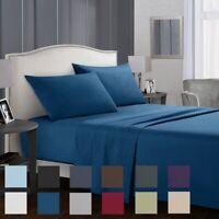 3/4 Piece Egyptian Comfort Sheets Deep Pocket Bedding Sheet Set Queen King Size