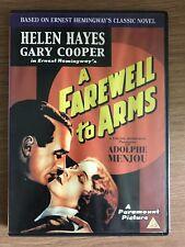 Helen Hayes, Gary Cooper UN ADDIO A ARMS ~ 1932 Hemingway Drammatico UK DVD