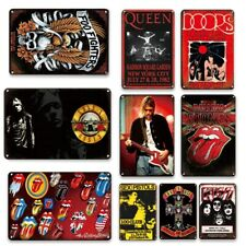 Vintage Pop Music Poster Metal Plates Wall Signs Plaques Garage Club Wall Décor.