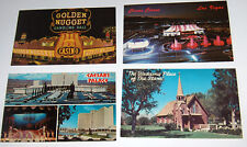 Las Vegas postcards 70's (4) Ceasars - Circus Circus - Golden nugget -Church