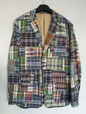 Polo Ralph Lauren Mens Blazer Smart Jacket Hand Woven Madras Patchwork L / 44R