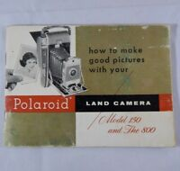 Polaroid Land Camera 150 800 How-To-Use Manual Booklet English Instruction Book