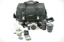 Canon EOS Rebel XTi 400D Silver 10.1MP W/ 2 Lens 2 Batteries 2 Chargers & Case