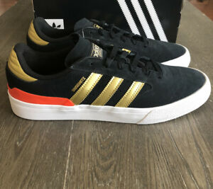 Adidas Busenitz Vulc II Men's Shoes Size 10 Black/Gold/Red Shoes EF8470