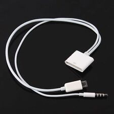 30 Pin iPhone 4S to Micro USB Audio Adapter Converter Charger Cable for Android