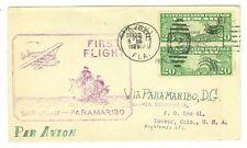 1929 LINDBERGH PANAM AAMC L56 FAM 6-15 SAN JUAN TO PARAMARIBO FLIGHT COVER CRASH