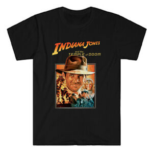 Indiana Jones and The Temple Of Doom Men's Black T-Shirt Size S to 3XL