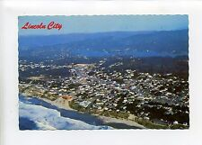 "Lincoln City Oregon aerial view, homes, streets, 1973, 4"" X 6"" postcard"