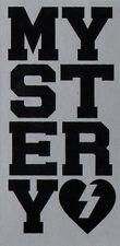 Mystery Skateboard Sticker - Black / Silver skate snow surf board bmx guitar van