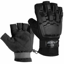 Exalt Paintball Hardshell Gloves - Hard Back Fingerless - Black - S/M