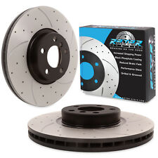 FRONT DRILLED GROOVED 348mm BRAKE DISCS FOR BMW X5 X6 E70 E71 xDrive 4.8i 3.0d