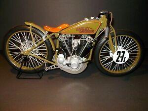 1927 Harley Davidson 8 valve board track racer motorcycle 1:6 Xonex box and COA