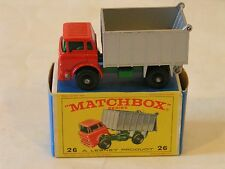 Mint In Original Box Matchbox No 26 GMC Tipper Truck Excellent MIB Quality