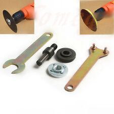M10/16mm Drill Angle Grinder Mandrel Adapter Disc Holder Kit Spanner Set  Hole