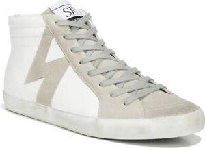 SAM EDELMAN -Avon High Top Platform Sneaker- Women's Size 10- Color:White- NEW!!