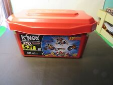 K'nex lot 521 value tub and travel case