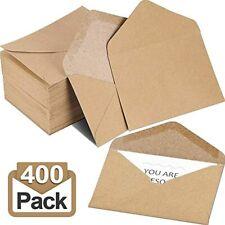 400 Packs Mini Kraft Paper Envelopes Gift Card Sleeve For Small Cards Business X