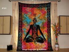 7 Chakra Yoga Mat Mandala Indian Hippie Buddha Tapestry Wall Hanging Throw Multi