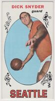 """1969-70  DICK SNYDER - Topps """"Tall Boy"""" Basketball Card # 73 SEATTLE SUPERSONICS"""