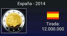 VENDO MONEDA DE 2 EUROS CONMEMORATIVA  ESPAÑA  2014. CAMBIO DE TRONO. S/C
